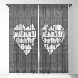 Book Lover Sheer Curtain