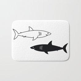 B/W Shark Bath Mat
