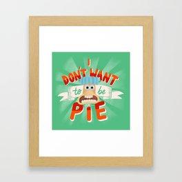 Pie Framed Art Print