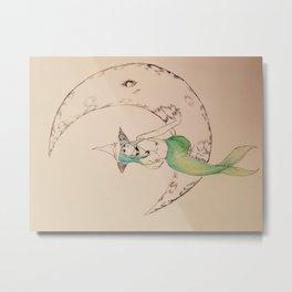 Mermaid Witch Metal Print