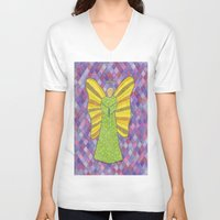 military V-neck T-shirts featuring Military Angel by GT6673
