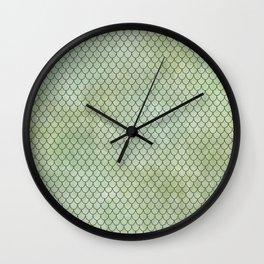 Mermaid Tail Pattern Wall Clock