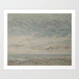 Low Tide at Trouville Art Print