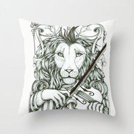 Lionviol Throw Pillow
