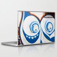 grafitti Laptop & iPad Skins featuring Grafitti Face by Leslie Philipp