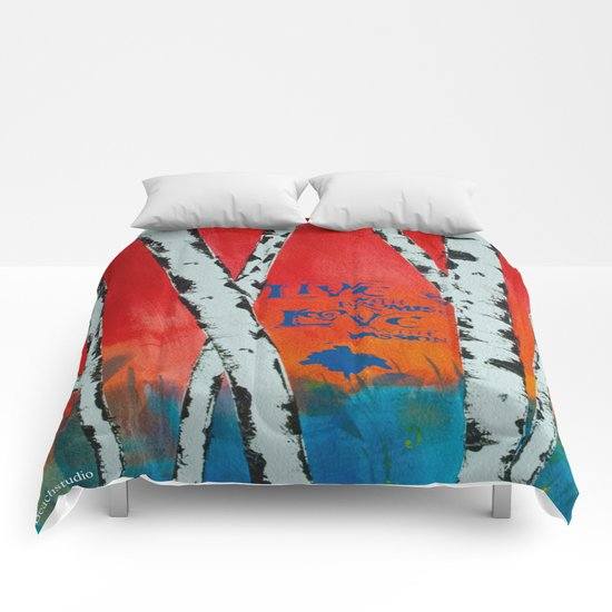 Live and Love Birch Comforters
