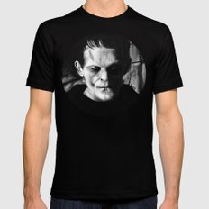 THE MONSTER of FRANKENSTEIN - Boris Karloff Black Mens Fitted Tee MEDIUM