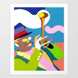 Bent Trumpet Art Print