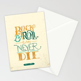 Rock & Roll Can Never Die - Neil Young Stationery Cards