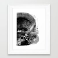 letter Framed Art Prints featuring Letter by yulka