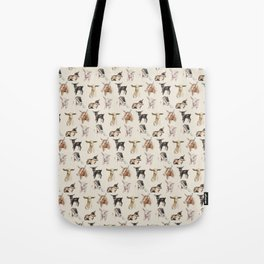 Vintage Goat All-Over Fabric Print Tote Bag