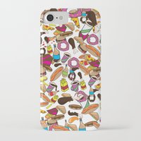 junk food iPhone & iPod Cases featuring Cartoon Junk food pattern. by Nick's Emporium