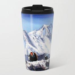 Black Yak On Everest Base Camp Travel Mug