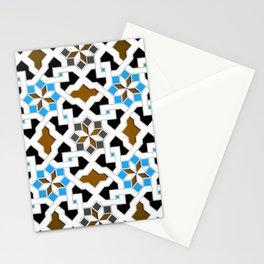 Oriental Pattern - Geometric Design, blue / brown Stationery Cards