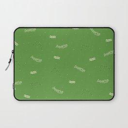 Aquarius Pattern - Green Laptop Sleeve