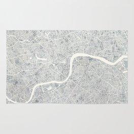 City Map London watercolor map Rug