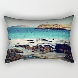 Dinosaur Beach - Retro look fine art canvas print Rectangular Pillow