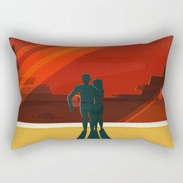 Vintage Adventure Travel Phobos and Deimos Rectangular Pillow