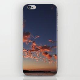 Puffy, pink Puget Sound sunset iPhone Skin
