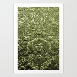 Celery Tooled Leather Kunstdrucke