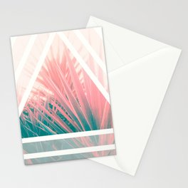 Pastel Palms into Triangle Stationery Cards