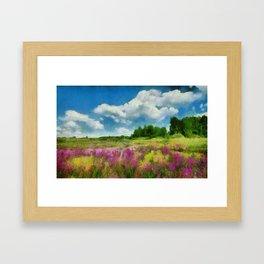 Flowery Field Framed Art Print