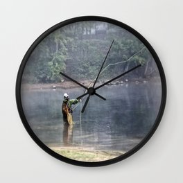 Casting Line Wall Clock