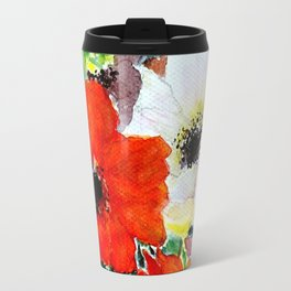 colorful poppies Travel Mug