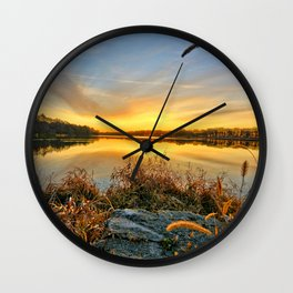 December Reflections 2 Wall Clock