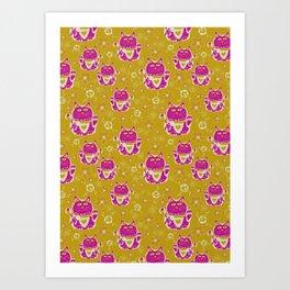 Oriental happy lucky cats Art Print