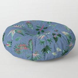 Inky Leaves Floor Pillow