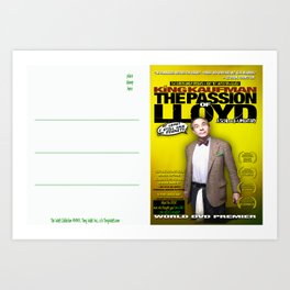 King Kaufman: The Passion of Lloyd (2008) - Movie Poster Postcard Art Print
