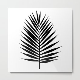 Palm leaf silhouette. Tropical leaves. Metal Print