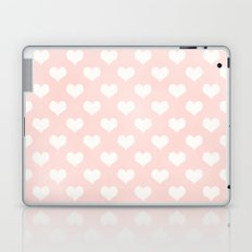 Pink Coral Love Hearts Laptop & iPad Skin