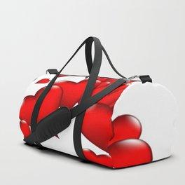 MODERN ART RED VALENTINES HEART  DESIGN Duffle Bag