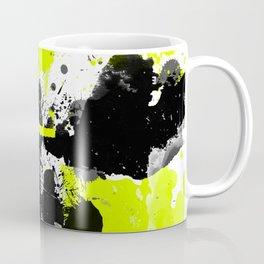 Lime Yellow Black Spats Coffee Mug