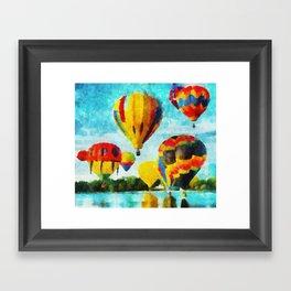 Cores Flutuantes Framed Art Print