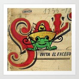 Senior Frog Art Print