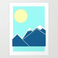 Mountain Range Print Art Print