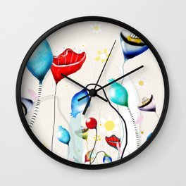 After all that we've been through - Poppy seed dried Rupy de tequila seed pods Wall Clock