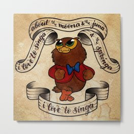 I Love to Singa Metal Print