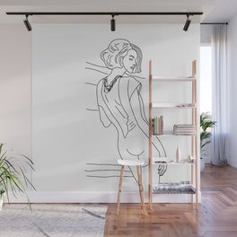 Woman in a jumpsuit Wall Mural