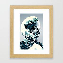 James Johnston Wave Framed Art Print