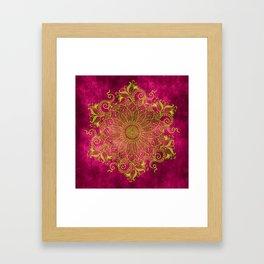 Pink lemon Framed Art Print