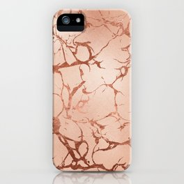 Modern abstract rose gold glitter stylish marble iPhone Case