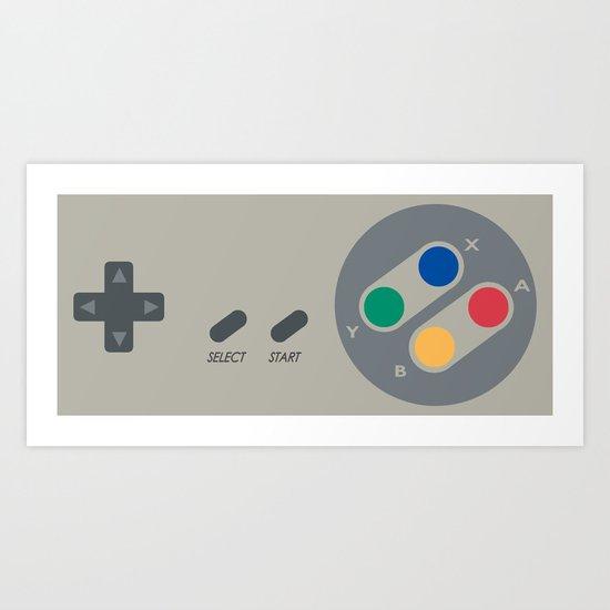 SNES controller Art Print