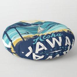 Vintage poster - Hawaii Floor Pillow