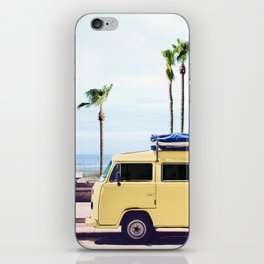 Surfer's Yellow Van iPhone Skin