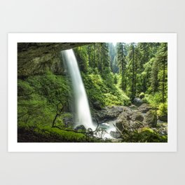 Looking Out From Under North Falls Art Print