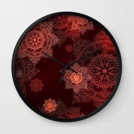 mandala glow in dark Wall Clock